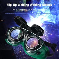 Flip-Up Two Layer Welding Safety Glasses Eye Protector For Welding Soldering Cutting Work Safety Goggles Eye Protection Welding Equipment