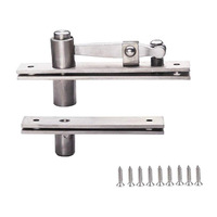 Stainless Steel 360 Degree Door Pivot Hinge Brushed Surface Door Hardware with Screws