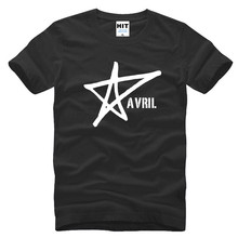 Avril Lavigne Music Printed Men's T-Shirt T Shirt For Men 2016 New Short Sleeve O Neck Cotton Casual Top Tee Camisetas Hombre