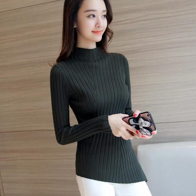 4368-2016 nuevas damas de invierno de punto suéter de la camisa 46