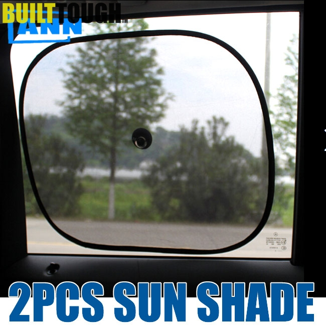 ANN 2pcs Black Side Car Sun Shades Rear Window Sunshades Cover Mesh Visor Shield Screen Interior UV protection kids baby child