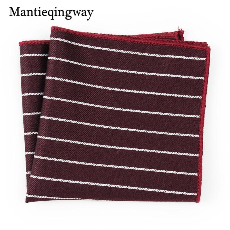 Mantieqingway Fashion Casual Striped Pocket Square Handkerchiefs For Men Women Accessories Male Business Suit Handkerchief Hanky