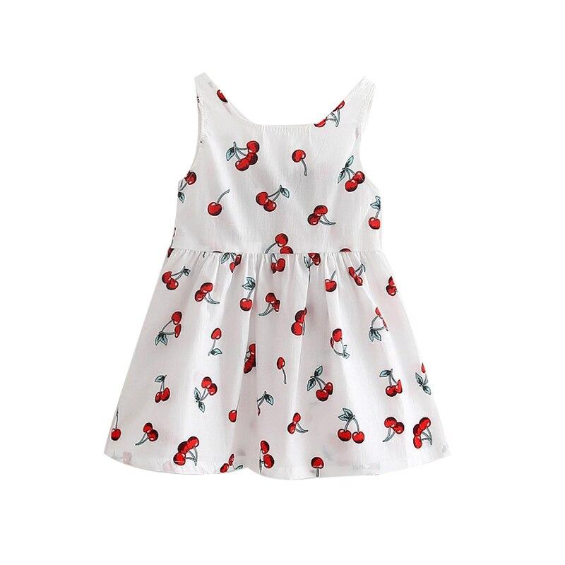Summer Baby Girl Dress Cotton Baby Girl Clothes Newborn Baby Clothes Roupas Bebe Sleeveless Children Dress Cute Kids Clothes