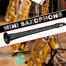Mini saxofón pequeño negro, saxofón de llave C portátil ABS, Saxofón ligero, instrumentos musicales con bolsa de transporte para mendigo