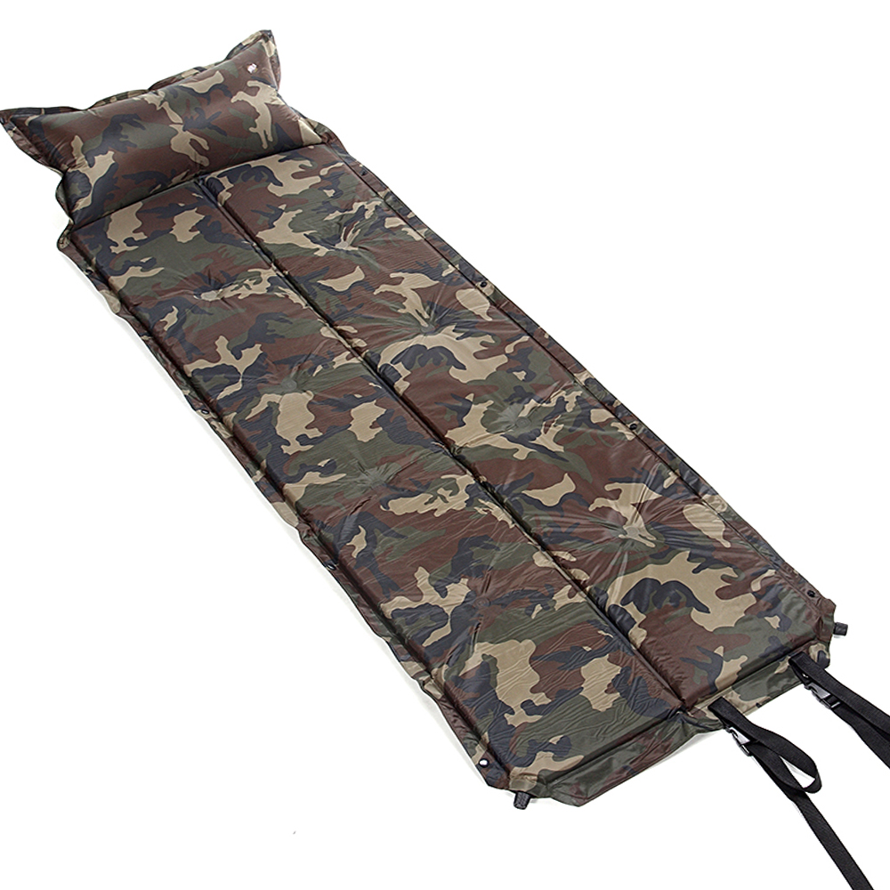 Self Inflating Mattress Pad Foldable Camping Hiking Pad Outing Picnic Napping Moistur-proof Sleeping Bag Military 185cm NEW