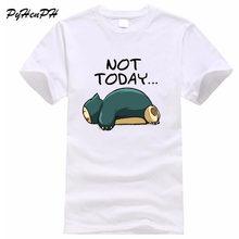 2018 New Pokemon Snorlax Print T shirt Men Funny Not Today Design Harajuku  Man Tops T 7c4e80978