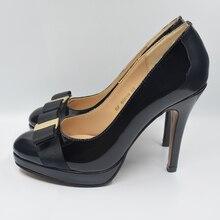 Mujeres bombas atractivas de los altos talones del cuero genuino de marca mujer zapatos de la boda de san valentín. DA011