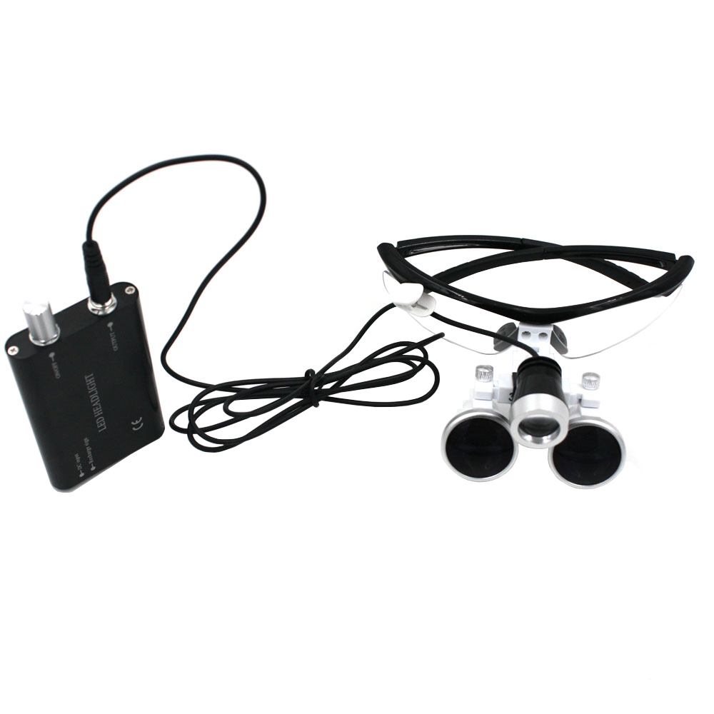 Dental Loupes 3.5X420mm Surgical Glasses with LED Head Light Lamp CE Proved Dental Equipment Surgical Dentists Magnifier dental loupes 3 5x 420 mm surgical magnifier binocular magnifier with led head light lamp surgical dentists magnifier