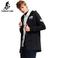 Pioneer Camp Autumn Winter Long Hoodie Hoodies Men Brand Clothing Fleece Warm Male Sweatshirts Quality Men
