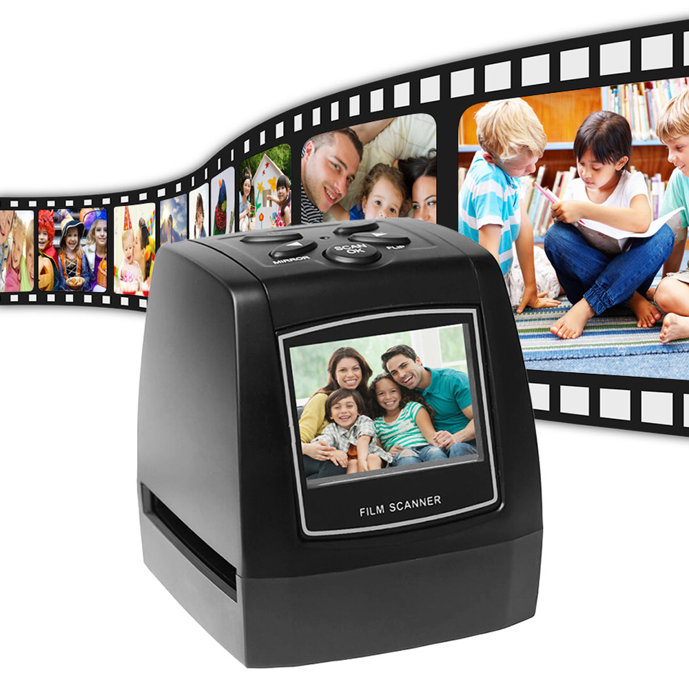 Portable 5MP 35mm Negative Film Scanner Negative Slide Photo film Converts USB Cable with 2 4