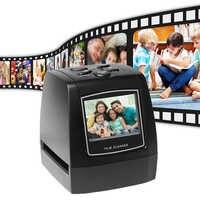 """Портативный 5MP 35 мм отрицательная пленка сканер отрицательная слайд фото пленка Преобразует USB кабель с 2,4 """"LCD"""