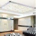 Simples Modern LED luzes de teto para sala de estar quarto lâmpada estudo escurecimento lâmpada do teto luzes da sala de jantar retangular arylic