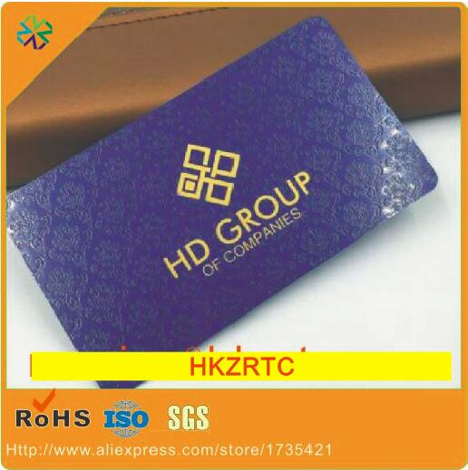 Luxury cards!special flower background blue/black metal tags cards business printing with credit card size