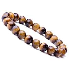 Новинка, браслет из бисера тигровый глаз для мужчин и женщин, ручной работы, натуральный камень, очаровательный браслет, ювелирные изделия для мужчин