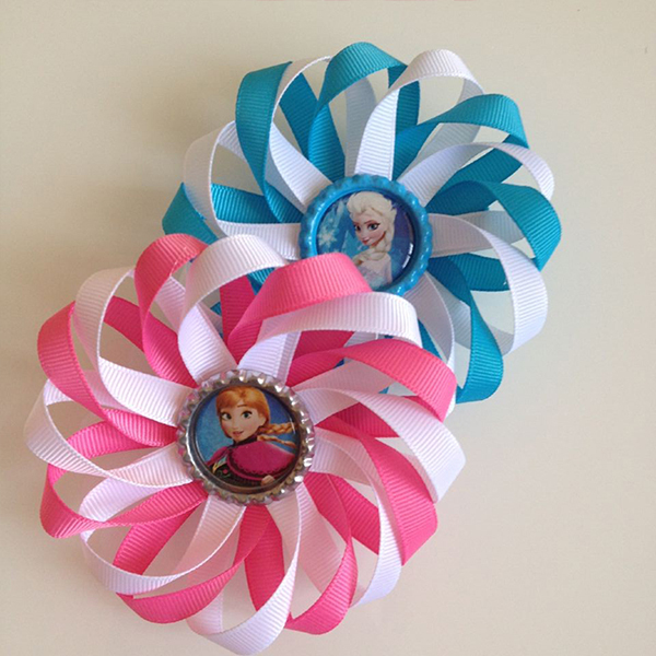 100pcs lot cartoon hair clip elsa anna