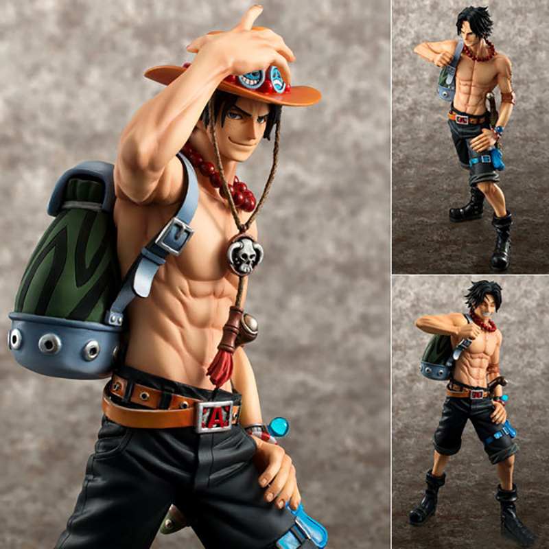 23cm ONE PIECE PVC Action Figure Portgas D Ace Dolls Toy 10th Limitrd Ver Online Game Collection Decor Figurine Brinquedos RT222 ...