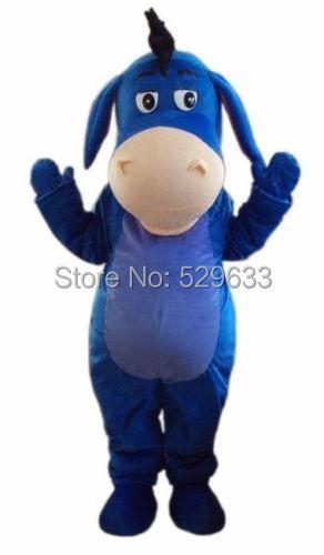 Best Sale Friendly Eeyore Donkey Mascot costume Size: S M L XL XXL