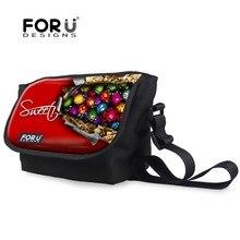 New Children Special Designer Crossbody Bags Funny Coccinella septempunctata Messenger Bags for Boys Girls Children Canvas Bag