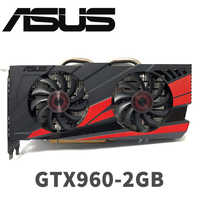 Asus GTX-960-OC-2GB GT960 GTX960 2G D5 DDR5 128 bits cartes graphiques nVIDIA pc de bureau PCI Express 3.0 cartes graphiques d'ordinateur