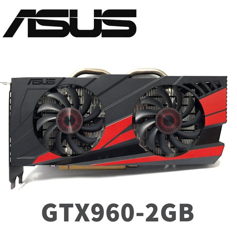 Asus GTX-960-OC-2GB gt960 gtx960 2g d5 ddr5 128 bit nvidia placa gráfica pci express 3.0 placas gráficas do computador