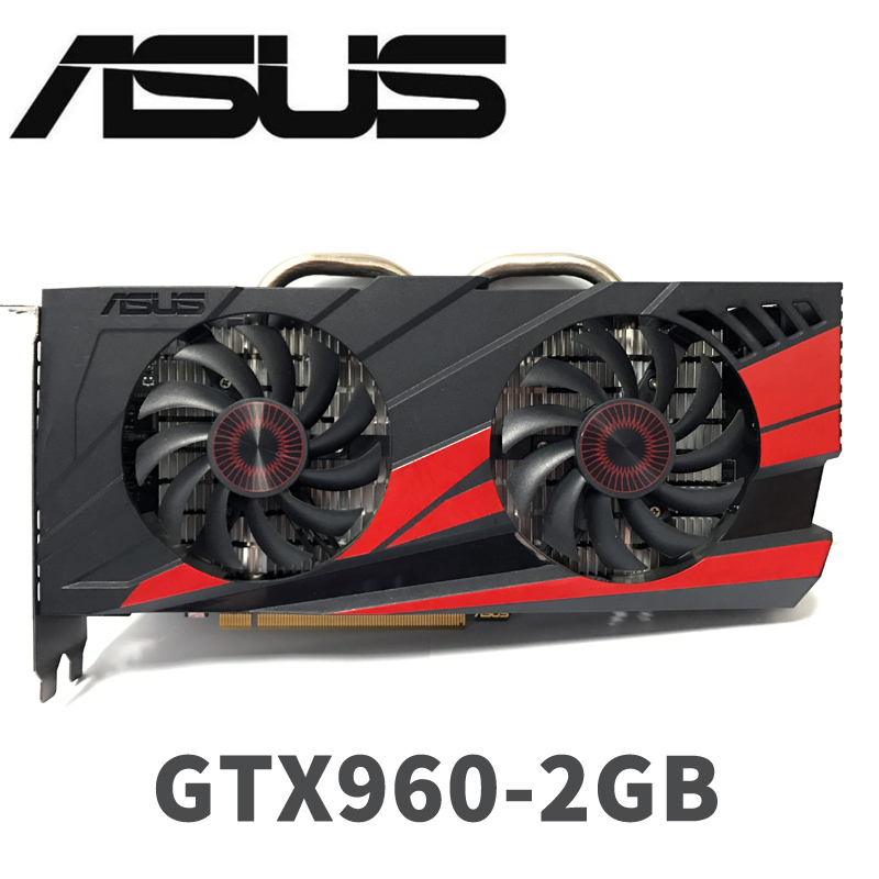 Asus <font><b>GTX</b></font>-<font><b>960</b></font>-OC-2GB GT960 GTX960 2G D5 DDR5 128 Bit nVIDIA PC Desktop Graphics Cards PCI Express 3.0 computer Graphics Cards image