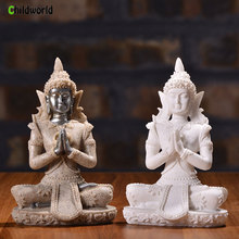 Sculpture Sandstone Buddha miniature figurines Resin Crafts Creative Home Decoration Accessories Modern Ornaments home accessory