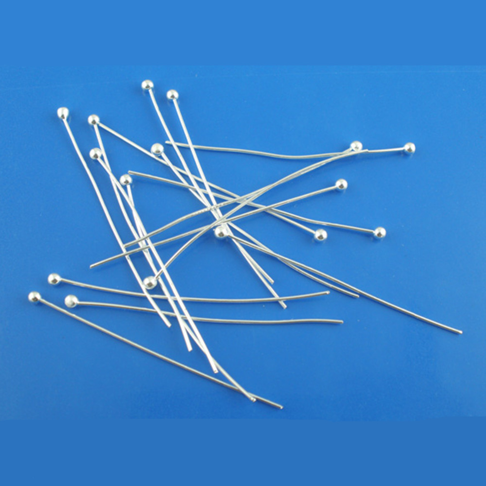 DoreenBeads 30Pieces Silver color Ball Head Pins 0.5x40mm(24 gauge) 2017 newDoreenBeads 30Pieces Silver color Ball Head Pins 0.5x40mm(24 gauge) 2017 new