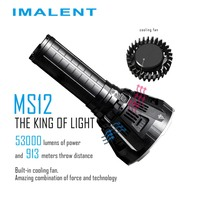 IMALENT MS12 Smart LED Rechargeable Flashlight 12 CREE XHP70 LEDs IPX 8 Waterproof 53000 Lumens with Intelligent Charging Torch