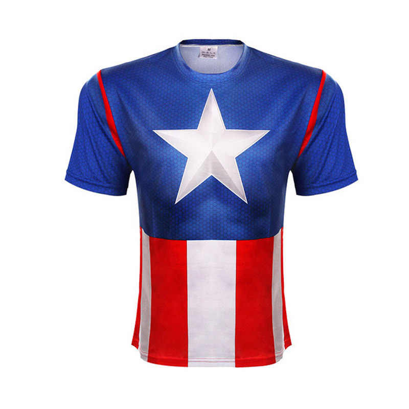 Estate Nuovo Marvel Batman Superman Iron Man Capitan America Divertente Calzamaglie Hip hop t shirt Manica Corta Da Uomo 3 D stampa T-Shirt
