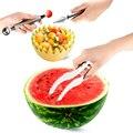 2016 Hot Kitchen Herramientas Practicas Creativo Sandía máquina de Cortar Cortador de la Fruta Cuchillo Melón Fruta Slicer Cortador Barato Venta