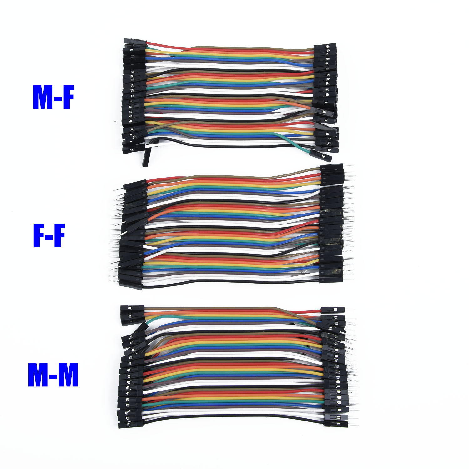 120Pcs Cable Good Jumper 11cm Lead For Arduino M-F M-M Male To Female Wire Dupont New Practical Poratable 2018