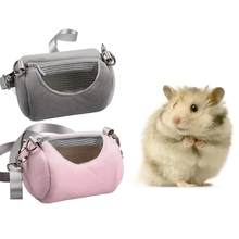 Portable Hamsters Bag Cage Mole Hedgehog Breathable Pet Carrier Bag Puppy Small Cat Outdoor Backpack Hamster Carring For Outside(China)
