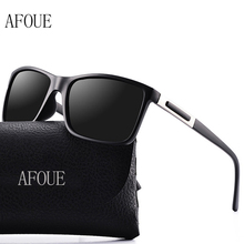 AFOUE Brand Design Men Polarized Sunglasses Rectangle Outdoor Driver Sun Glasses Mens UV400 HD Retro Sunglasses With Gift Box
