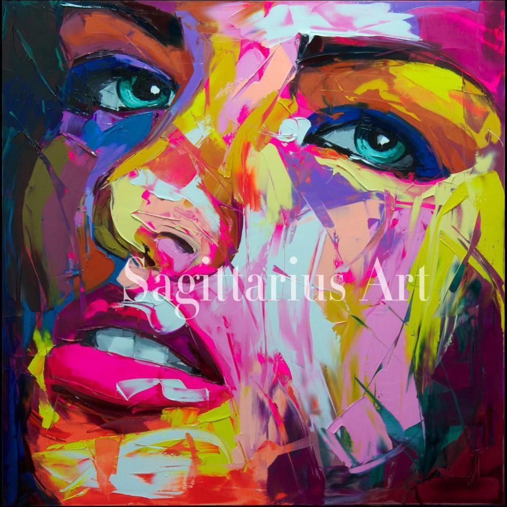 ②Francoise nielly diseñador pintado a mano de alta calidad Cool ...