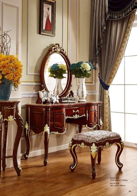 US $653.0 |Comò, camera da letto in stile Europeo tavolo da trucco bianco  avorio piccolo Huxing make up in Comò, camera da letto in stile Europeo ...
