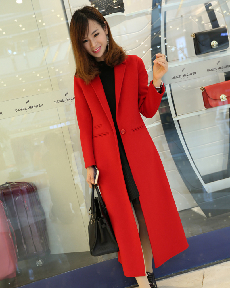 2018 new design Casual suit collar wool  coat for women have a larger size