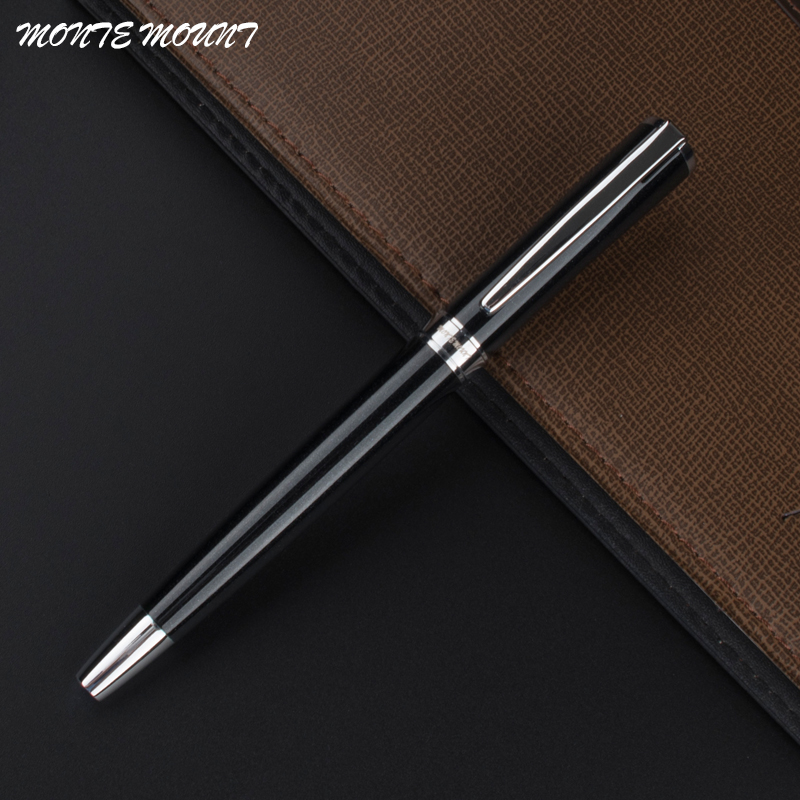 MONTE MOUNT High Quality black Office Stationery gel pens     luxury Business  Writing gift Roller ball Pen refill black jinhao ballpoint pen and pen bag school office stationery brand roller ball pens men women business gift send a refill 013