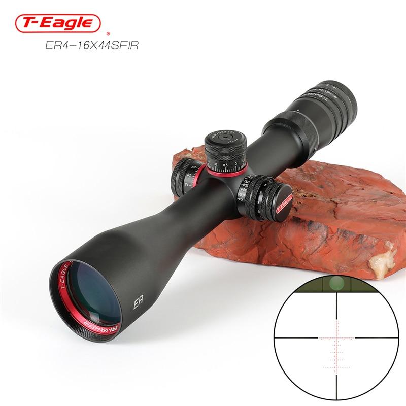 Tactical 4-16x44 Sfir Long Range Rifles Scope Air Rifle Optics Red Dot Illuminated Riflescope Shotgun Shooting Hunting