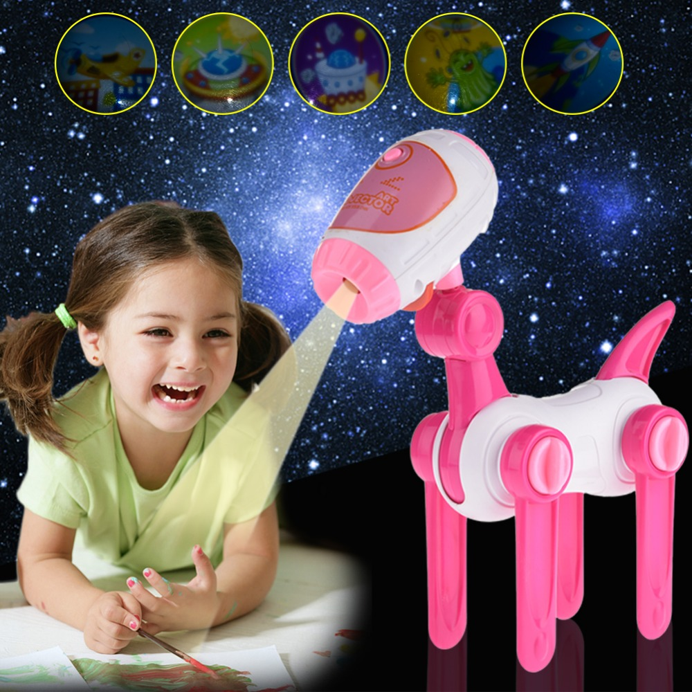Early Learning Projection Puppy Painting Learning Machine (With Button Battery) ...
