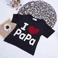 Promotion 4 Types Excellent Quality Summe Kids Round Collar Short Sleeve Letter Printed Casual Cotton T-shirt Tees