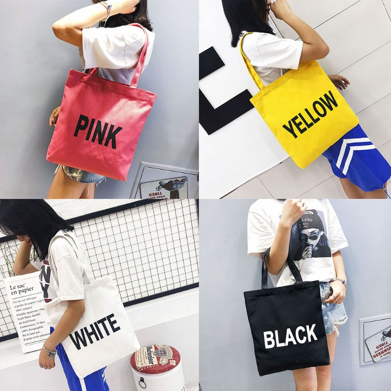 Zipper Canvas Handbag Summer Beach Shoulder Bag Messenger Tote Shopping Handbag