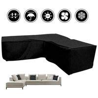 Waterproof Outdoor UV Protector Rain Dust Cover For L shaped Recreational Sofa Garden Furniture
