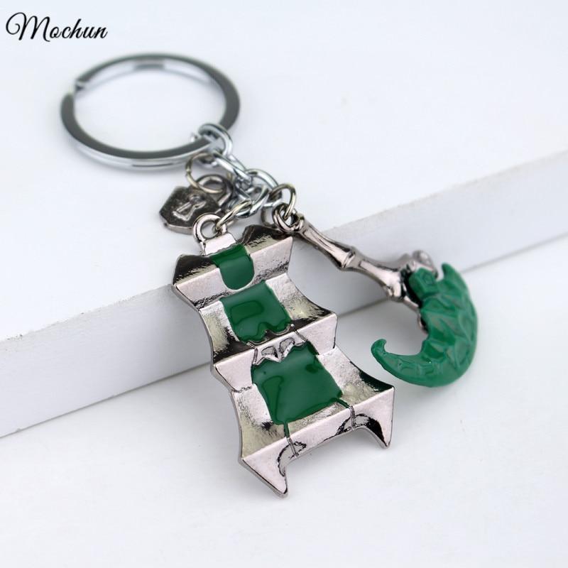 MQCHUN League Of Legends Thresh Hook Keychain LOL Thresh Weapon Lantern&Sickle Bisoprolol Key Chains Rings For Gift Chaveiro Car