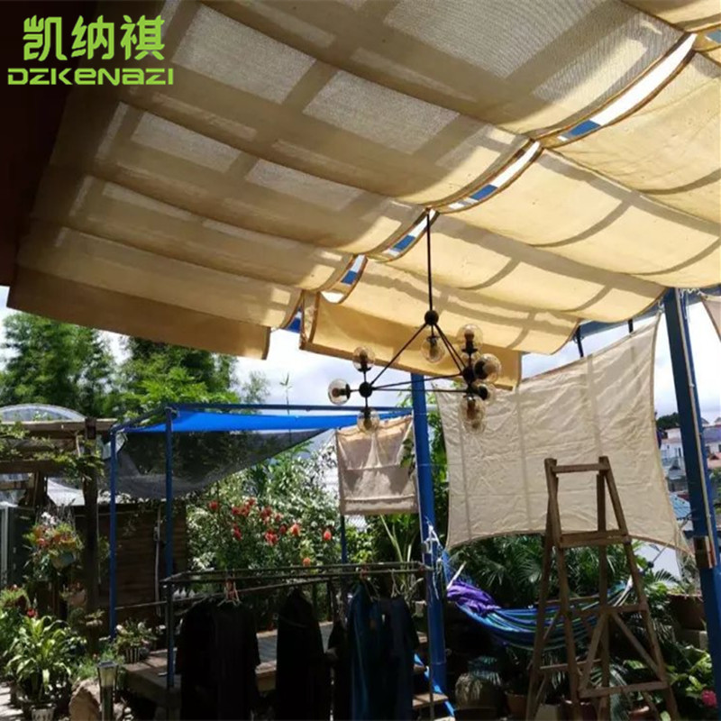 Roof Retractable Wave Sun Shade Sail