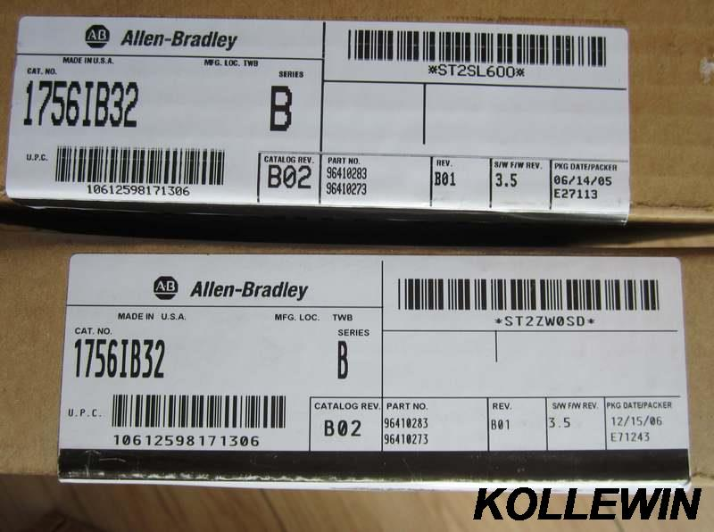Freeship NEW Original Allen Bradley 1756-IB32 1756IB32 ControlLogix 32 Pt 12/24V DC D/I Module PLC module 1756 IB32 1yearwarrant allen bradley 1756 pa75 1756pa75 controllogix ac power supply new and original 100% have in stock free shipping