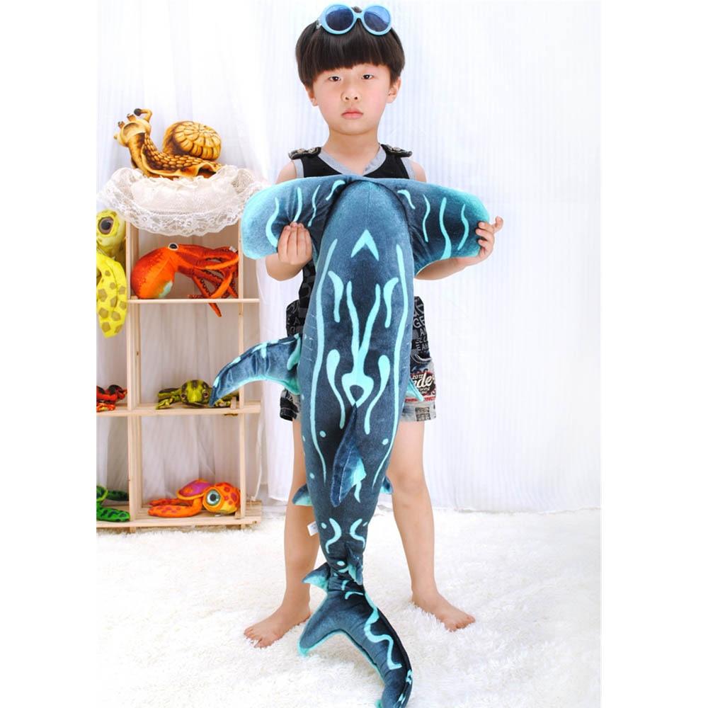 Fancytrader Emulational requin marteau en peluche jouet géant doux en peluche Animal de mer requin poupée 100 cm X 53 cm