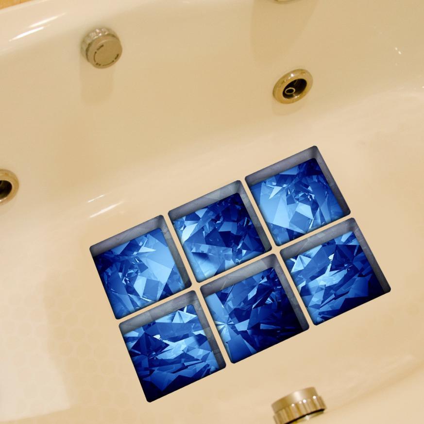 2018 TOP FASHION 3D Nonslip Bathtub Appliques Bath Bathtub Sticker Tub Bathroom Decal PVC Mural 0605