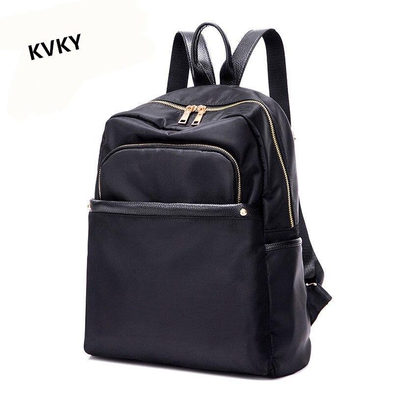 KVKY 2017 New Style Women Backpack Fashion Backpacks Teenage Girls Nylon school bags mochila High Quality