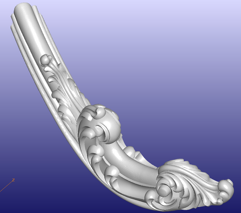 D model stl format file for cnc router carving engraving sofa