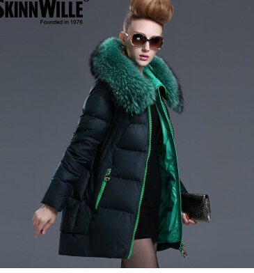 New Arrival 2015 Hotsale Design Female Medium-long Down Coat  Thickening Large Fur Collar Women's Brand Outerwear High Quality new arrival 2015 hotsale design female medium long down coat thickening large fur collar women s brand outerwear high quality
